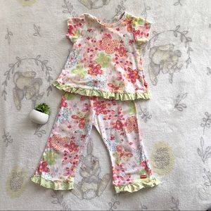 Toddler Girls Baby Nay Floral Pjs Set Size 3T